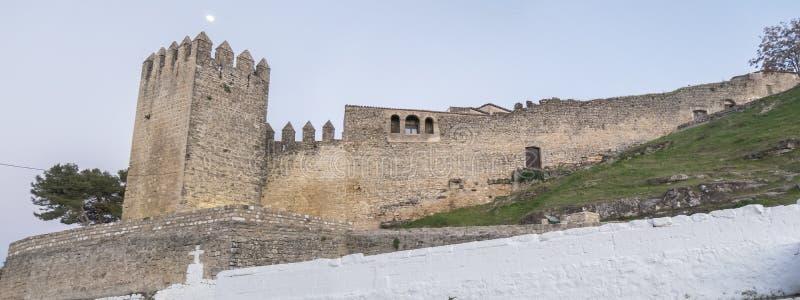 Sabiote wioski kasztel, Jaen, Hiszpania zdjęcia stock