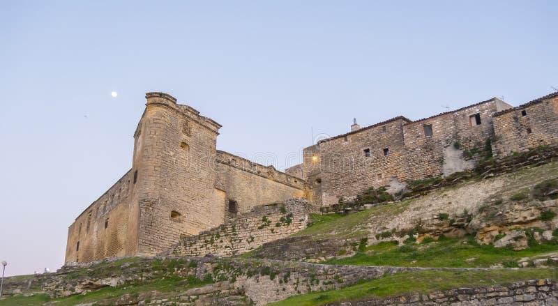 Sabiote wioski kasztel, Jaen, Hiszpania obraz stock