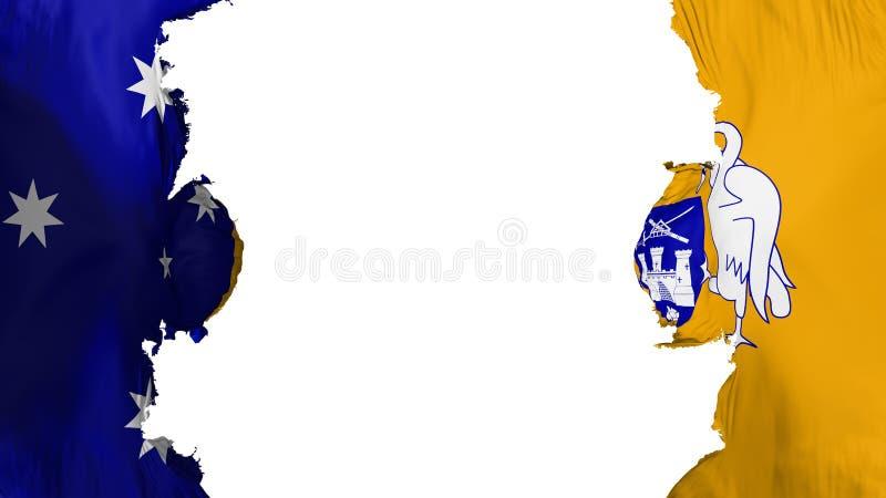 Sabla Canberra flagga vektor illustrationer