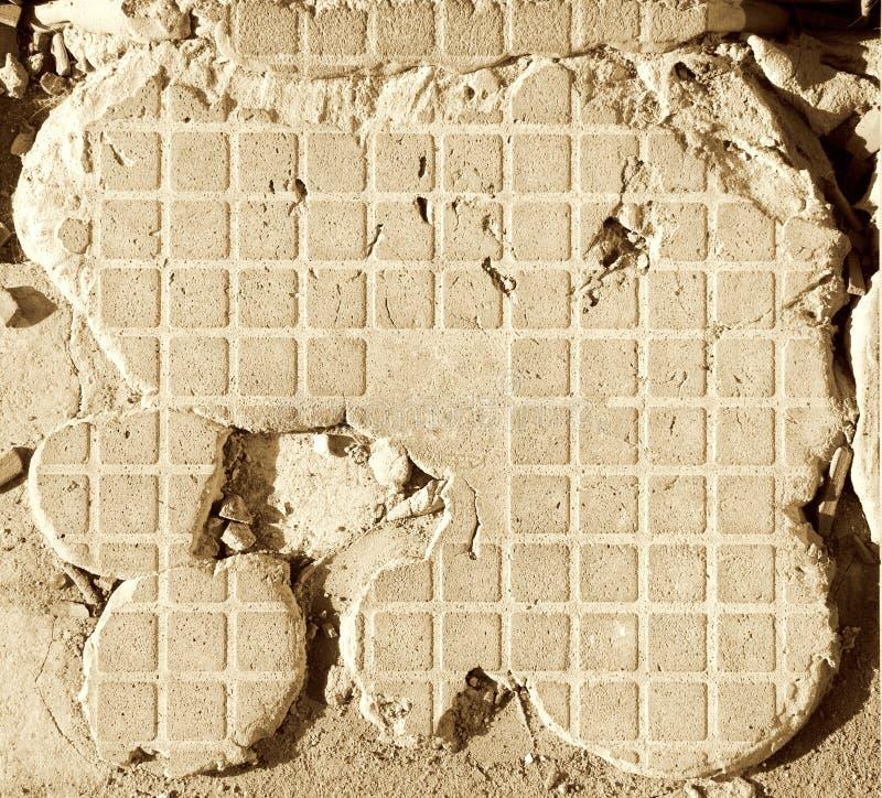 sabla cementtegelplatta royaltyfri bild