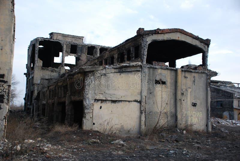 Sabla demolerat hus arkivbilder