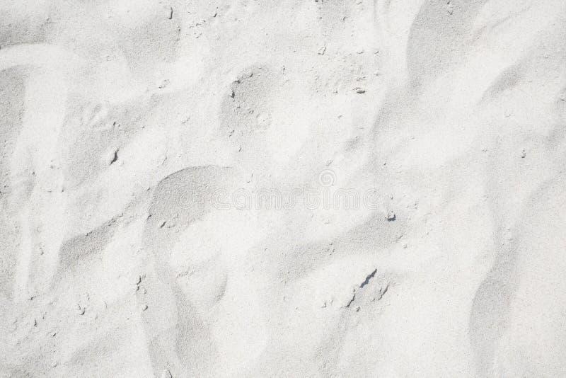 Sable blanc sur la la plage image libre de droits