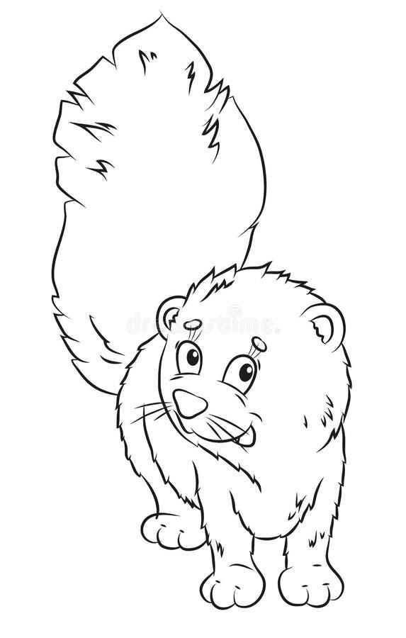Sable, coloration, l'image de l'animal en noir et blanc illustration stock