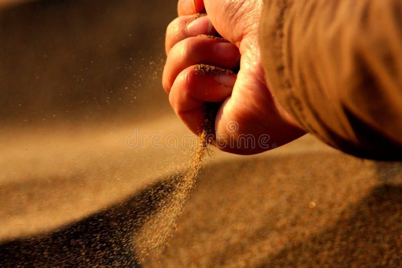 sable dans le vent images libres de droits