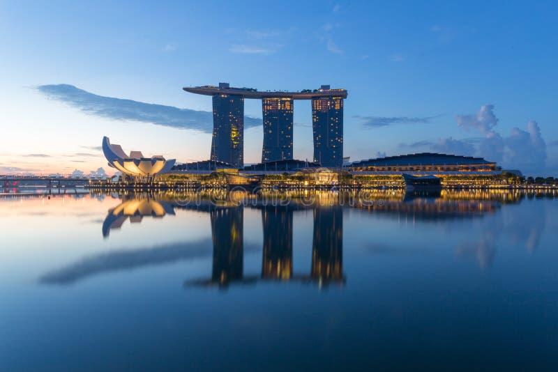 Sable de compartiment de marina, Singapour photos libres de droits