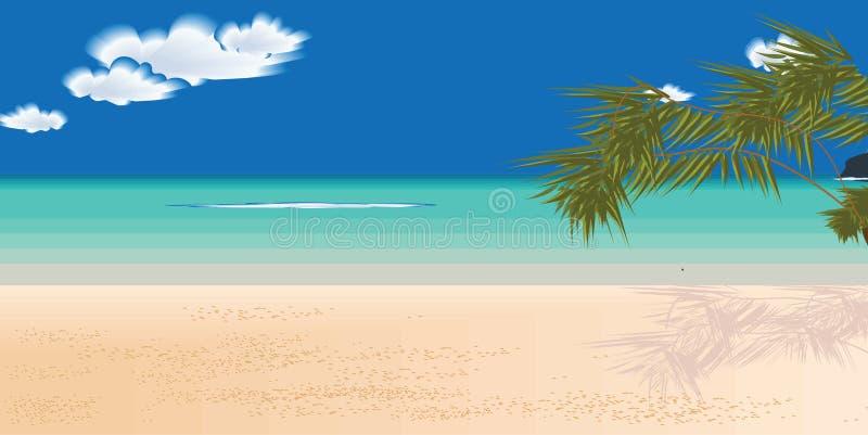 Sable de nuage de mer de paume de modèle de vacances photo libre de droits