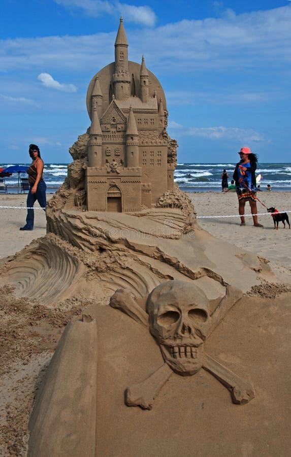 sable de padre d'île de jour de château du sud images libres de droits