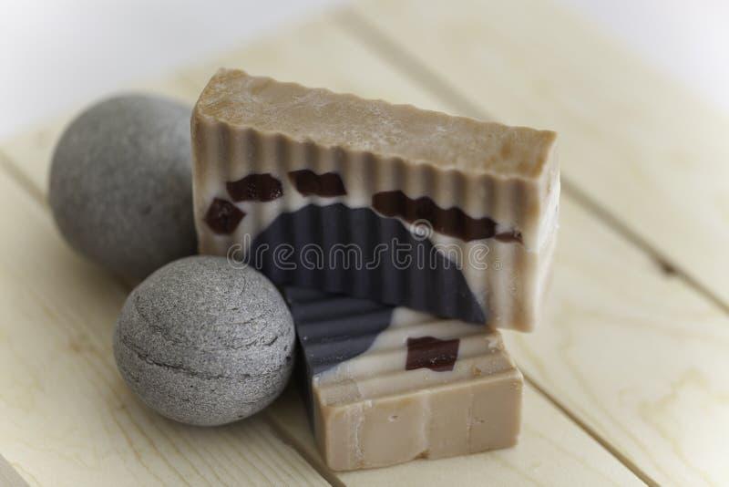 Sable et savon de pierre photos stock
