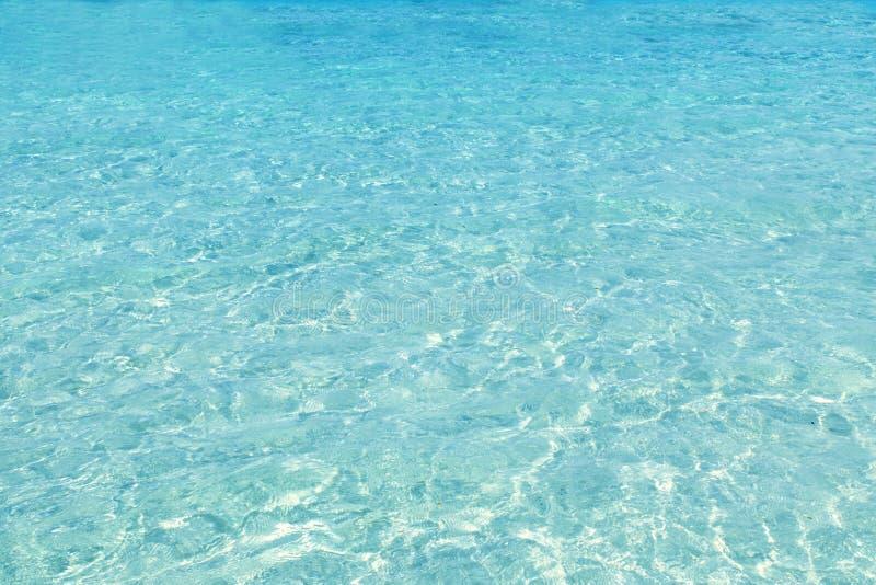 Sable tropical parfait de blanc de plage de Turquioise image stock