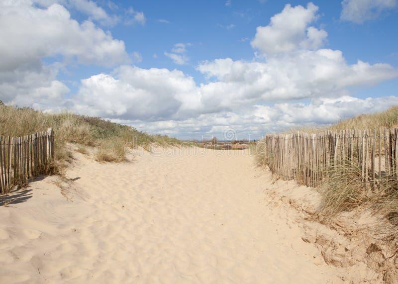 Sables de cambrure, cambrure : dunes et la plage image stock