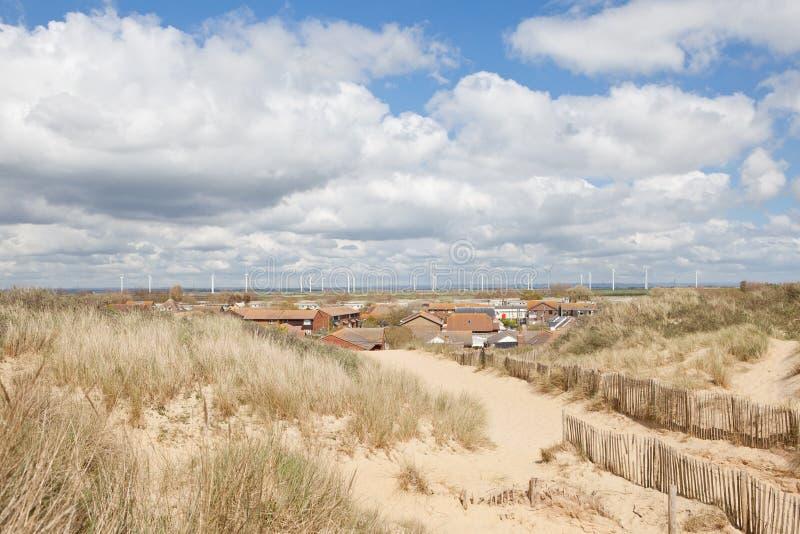 Sables de cambrure, cambrure : dunes et la plage photos libres de droits