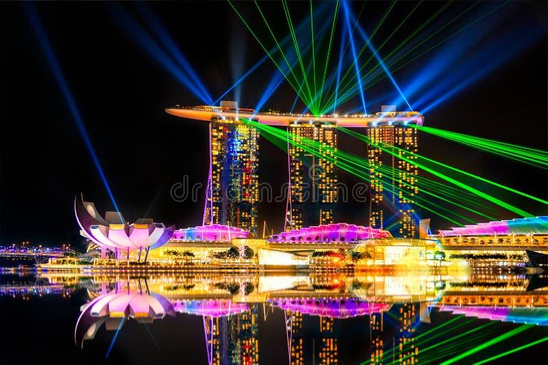 Sables de compartiment de marina, Singapour photo libre de droits
