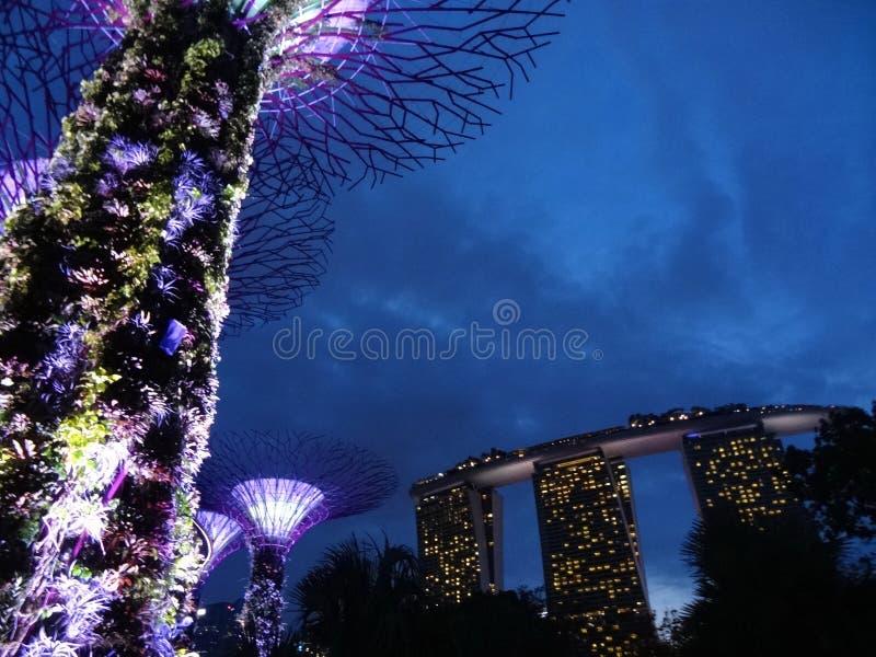 Sables de compartiment de marina, Singapour photos stock