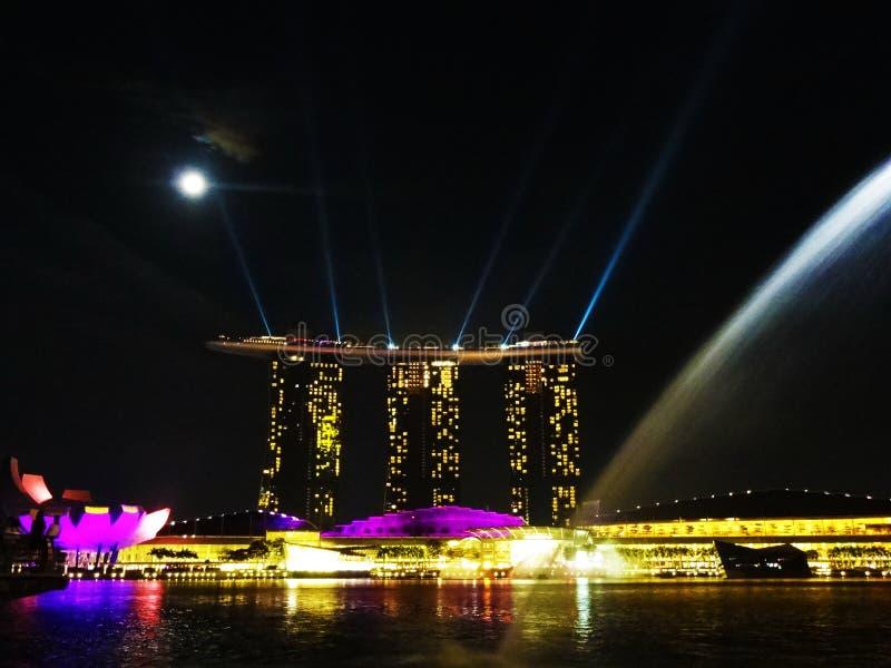Sables de compartiment de marina, Singapour images stock