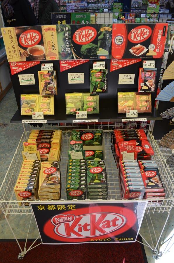 Sabores del asiático de KitKat fotografía de archivo