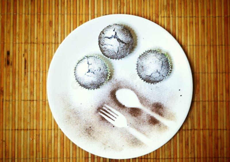 Saboroso!!!! Sobremesa qualquer um?? fotos de stock royalty free