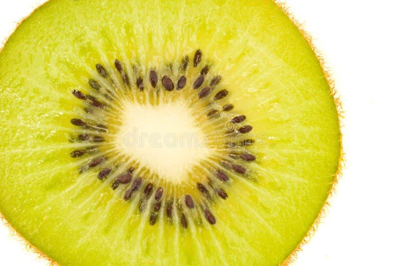 Saboroso, verde e fresco - fatia da fruta de quivi fotos de stock