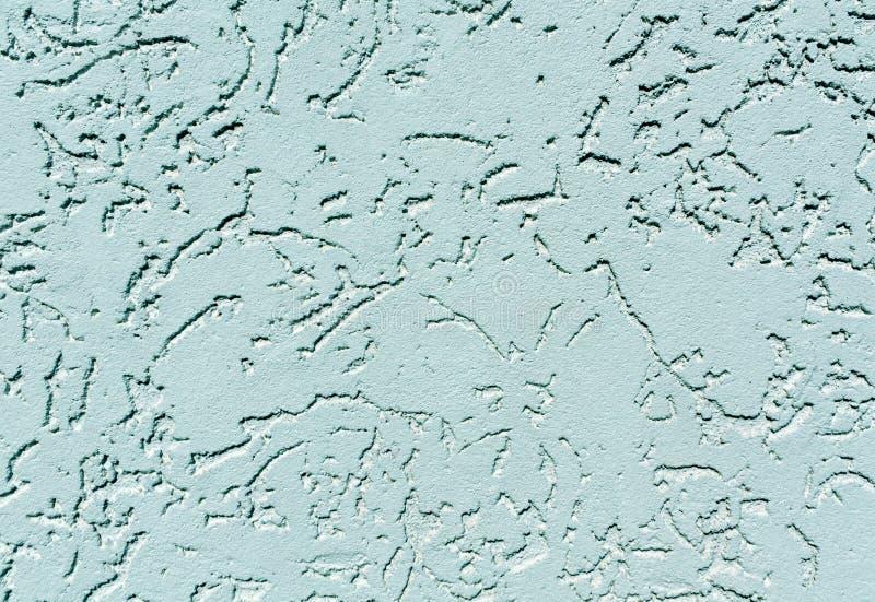 Sabot cyan de mur de plâtre de couleur photos stock