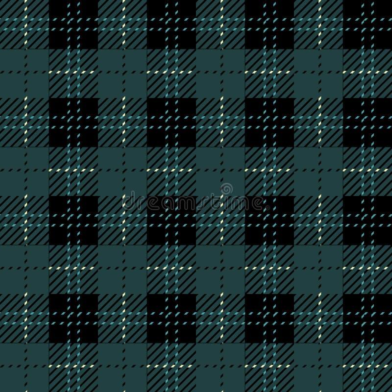 Sabot de contrôle de plaid Copie à carreaux de tissu aux nuances du bleu, indigo, violet et blanc Texture sans joint de vecteur illustration stock