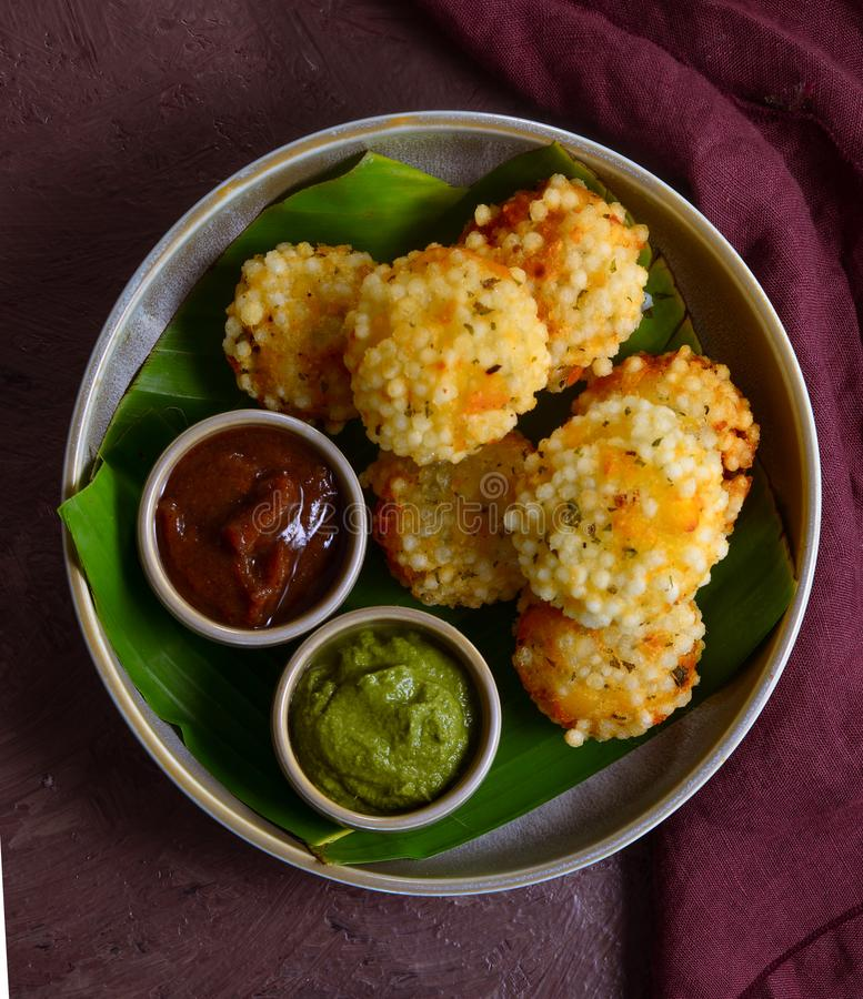 Sabudana Vada - Indyjski apetyt bezglutenowy obrazy royalty free