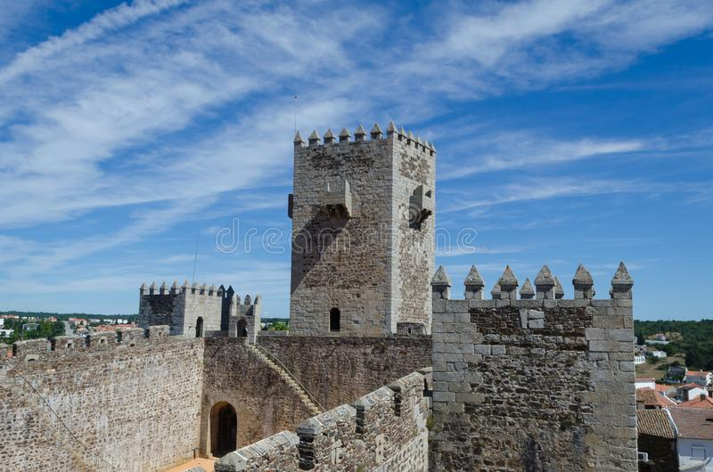 Sabugal城堡,葡萄牙的历史村庄 Sabugal的自治市 葡萄牙 库存照片