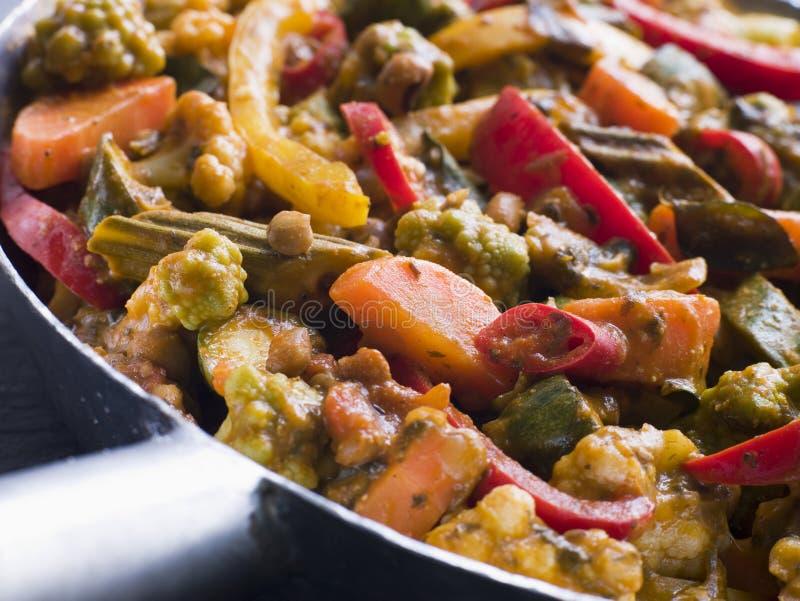Sabzi Salan - caril vegetal imagens de stock