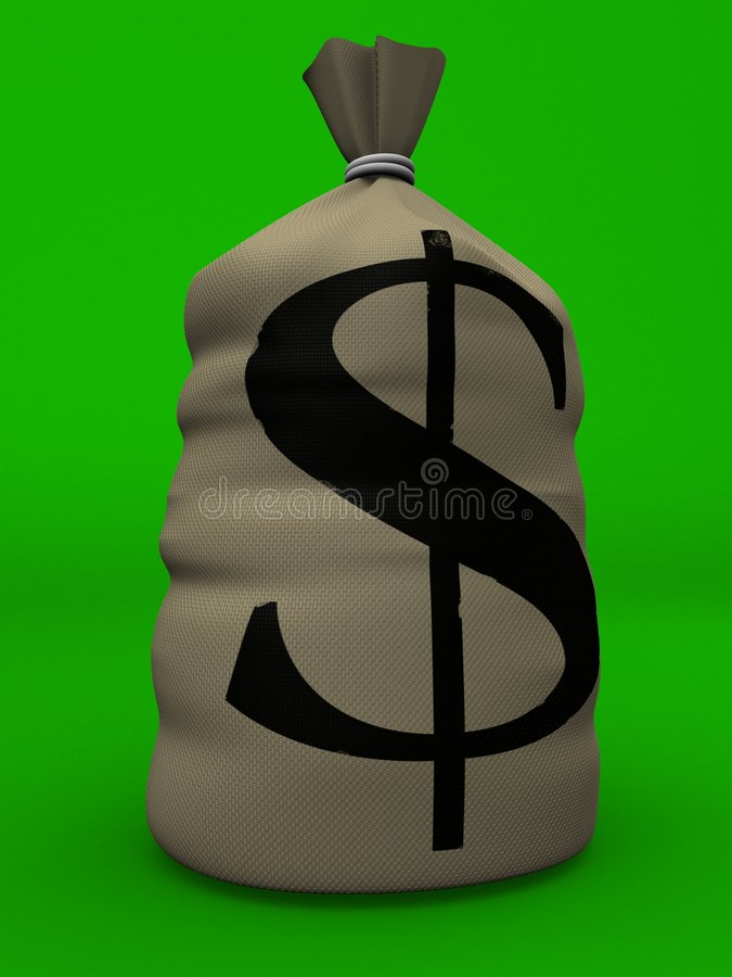 Sac à argent illustration de vecteur