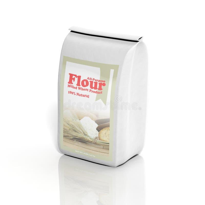 sac à la farine tout usage 3D illustration libre de droits