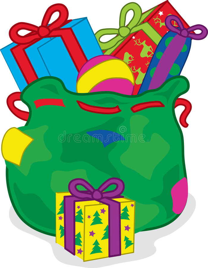 Sac à Noël de présents illustration de vecteur