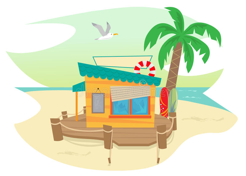 Sac à plage illustration de vecteur