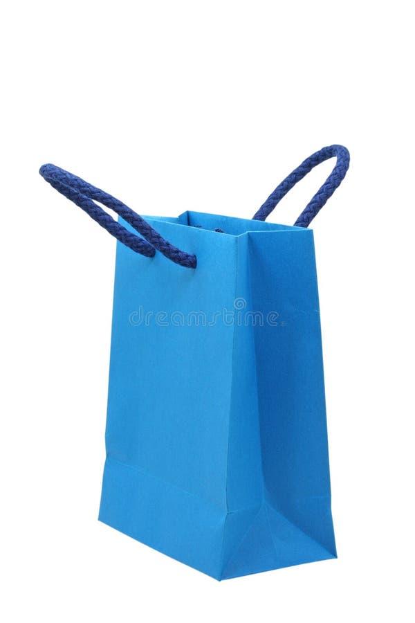 Sac à provisions bleu images stock