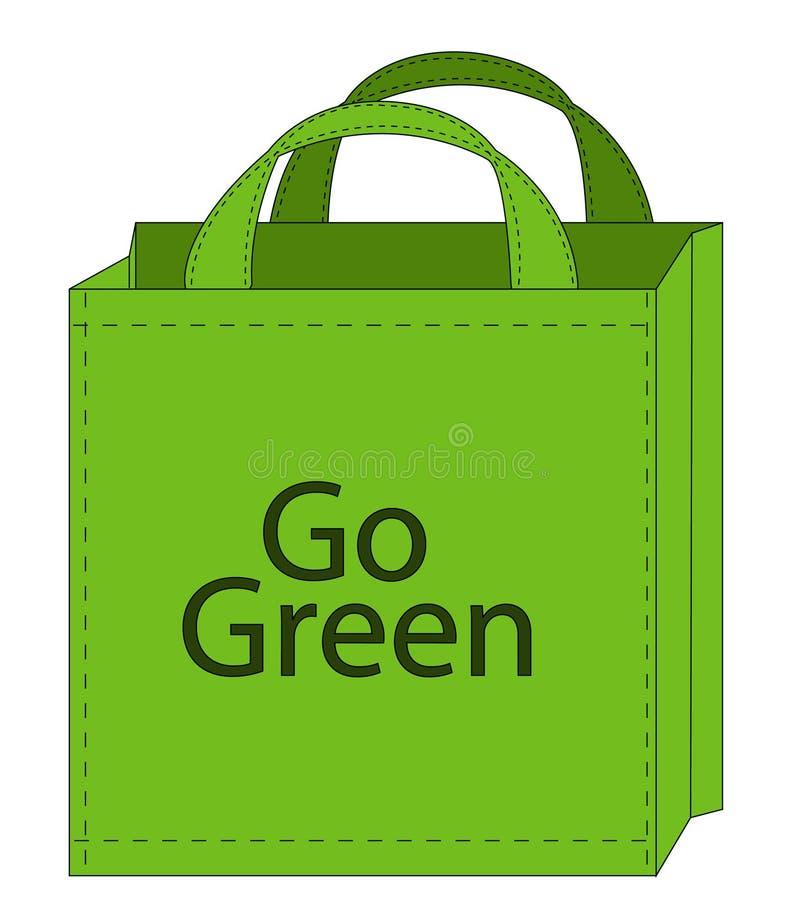 Sac à provisions de Recycleable illustration libre de droits