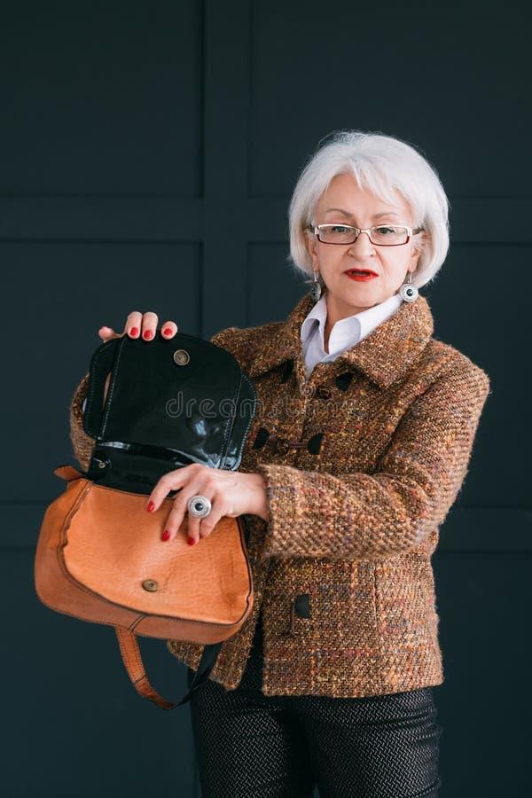 Sac à provisions supérieur de mode de style de garde-robe de femme images libres de droits