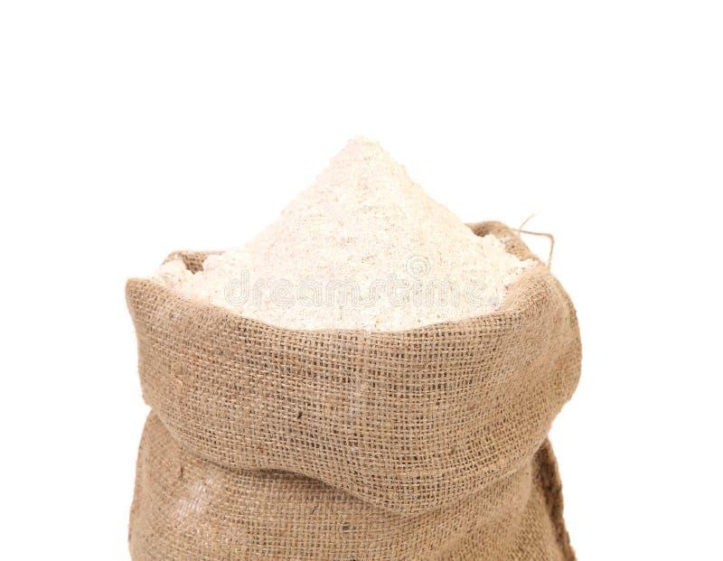 Sac avec la farine de blé. photo stock