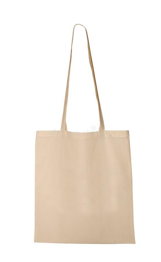 Sac blanc de textile image stock
