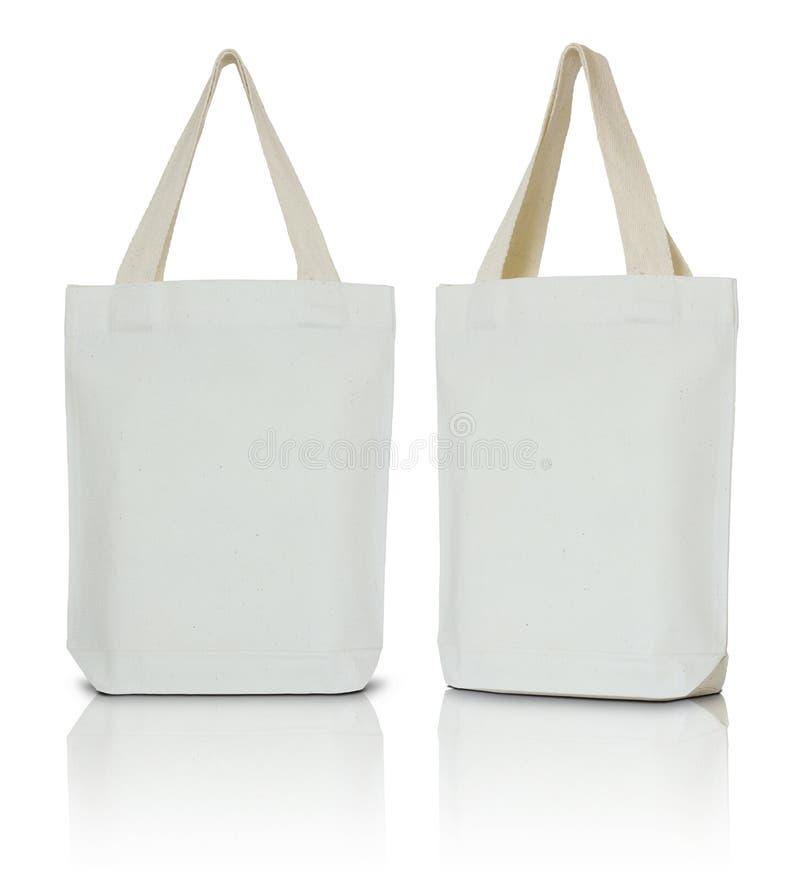 Sac blanc de tissu photographie stock libre de droits