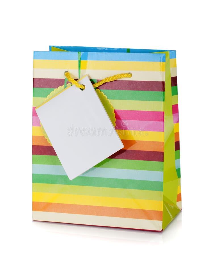 Sac coloré de cadeau image libre de droits