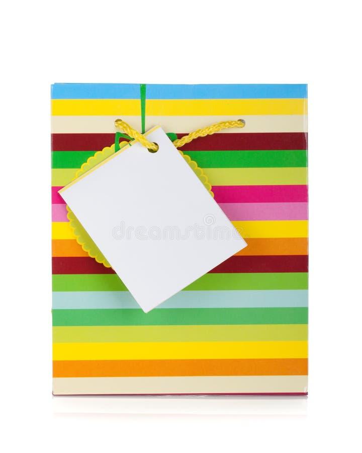 Sac coloré de cadeau photos stock