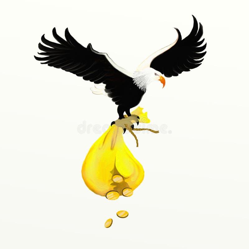 Sac d'aigle et d'argent illustration libre de droits