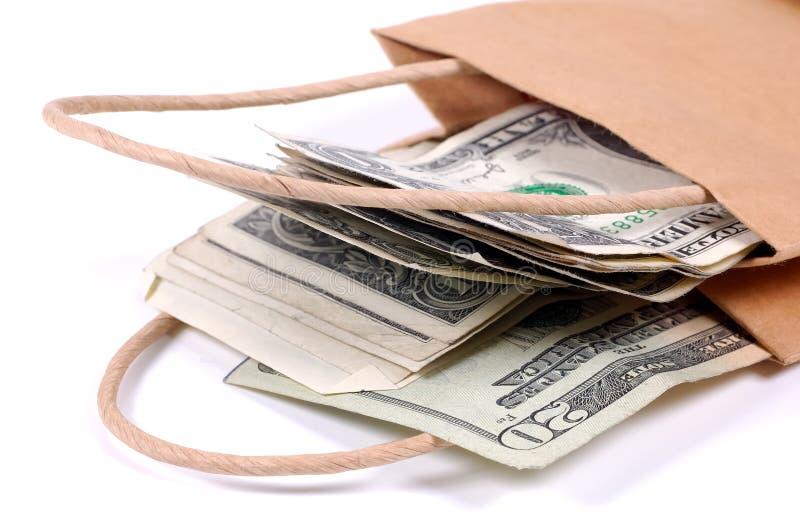 Sac d'argent photographie stock libre de droits