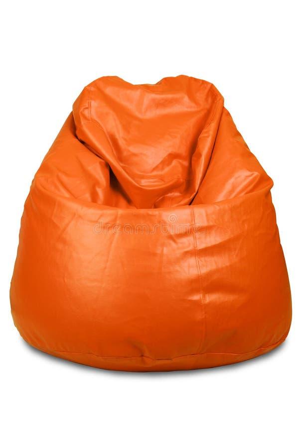 Sac d'haricot de couleur orange photographie stock libre de droits