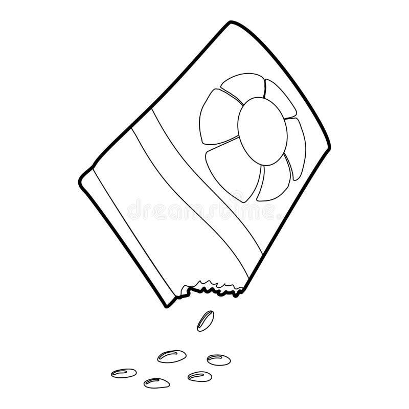 Sac d'icône de graines de fleur, style 3d isométrique illustration stock