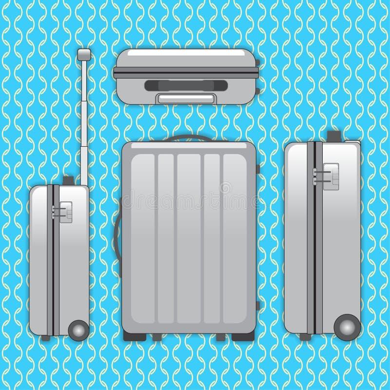 Sac de bagage de voyageur illustration libre de droits