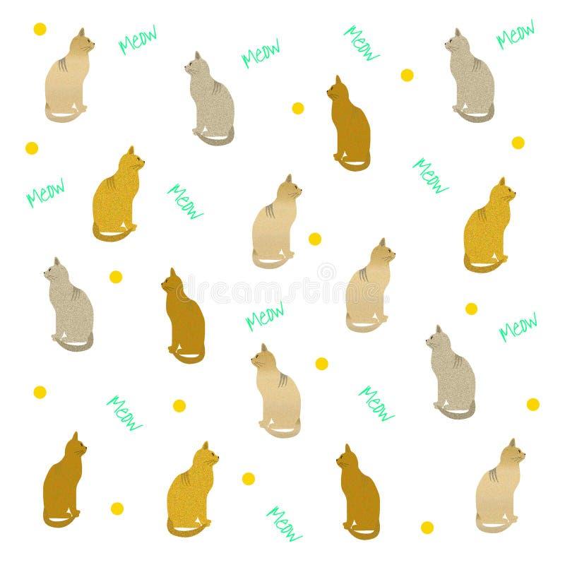 Sac de cadeau de chat illustration stock