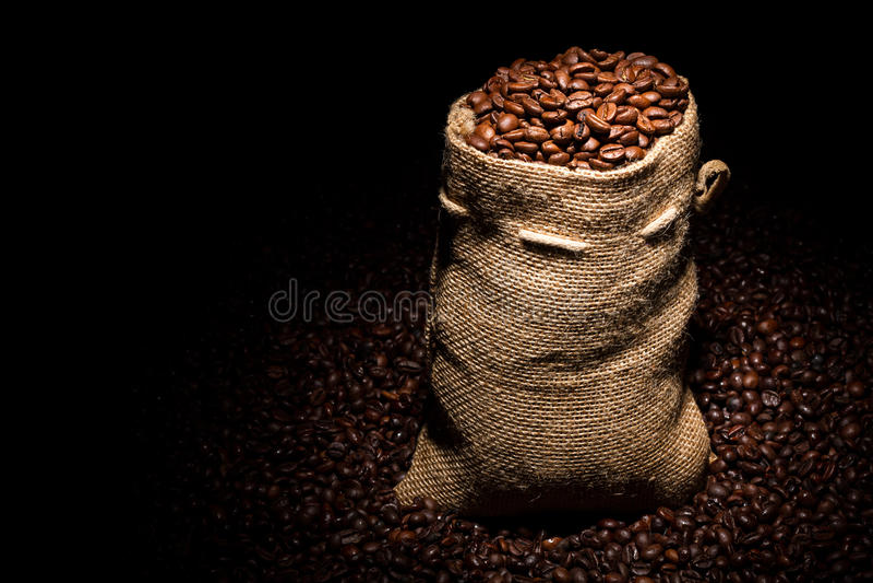 Sac de café image libre de droits