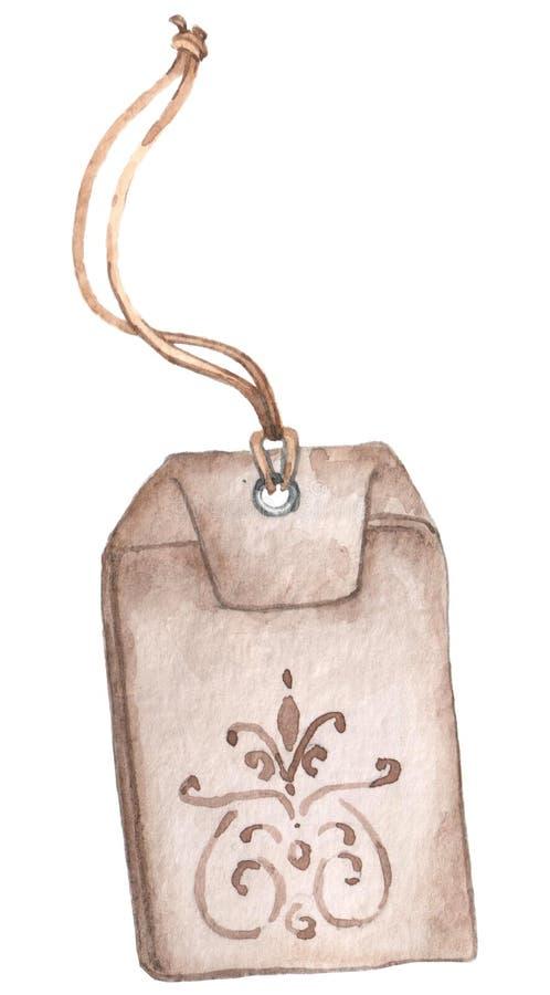 Sac de empaquetage inbeautiful de tissu de tisane d'aquarelle illustration de vecteur