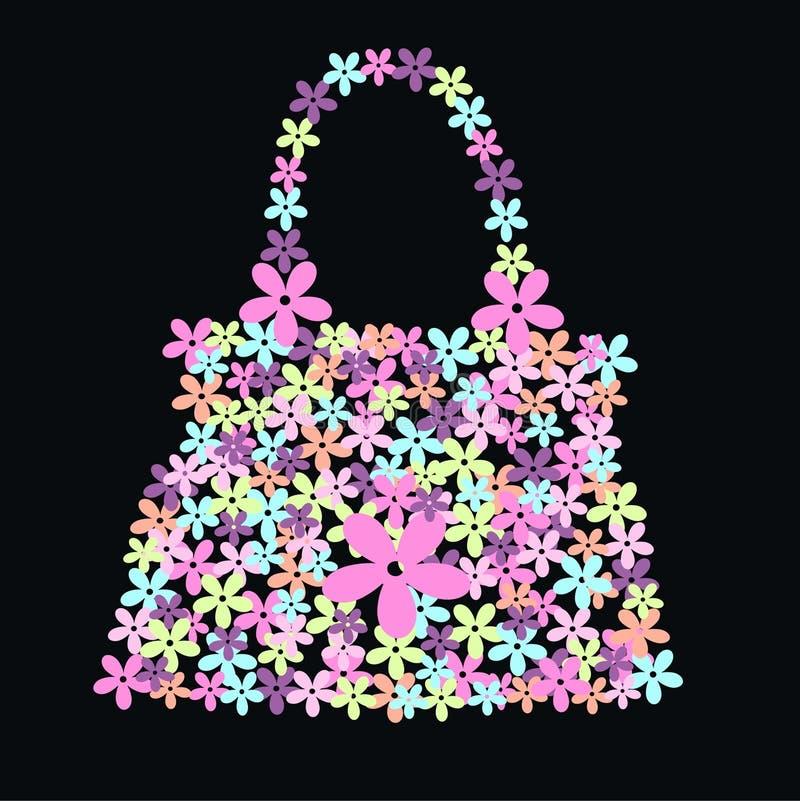 Sac de fleur illustration stock