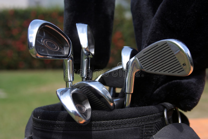 Sac de golf photographie stock