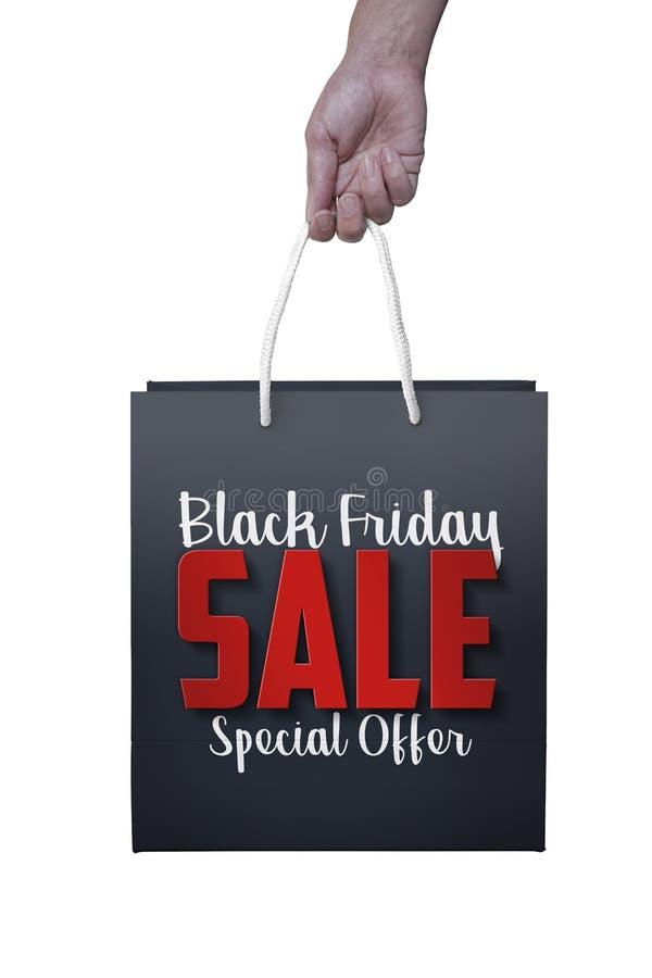 De Friday Papier Fond Black Sac Blanc Couleur Au Avec 8mN0wvnO
