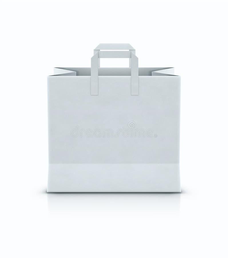 Sac de papier d'achats blancs illustration de vecteur